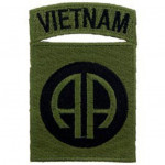 PATCH / ECUSSON - VIETNAM 082ND kaki