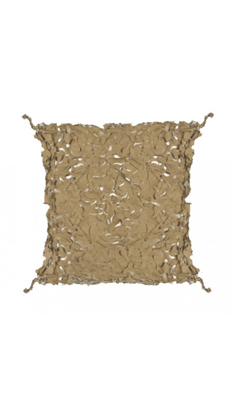 Filet de camouflage 80% de protection 5x5m câble acier  - Beige