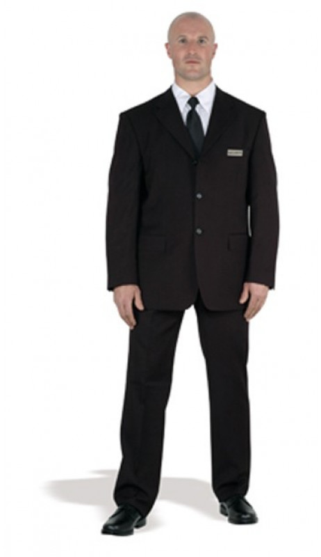 Costume noir agent securite