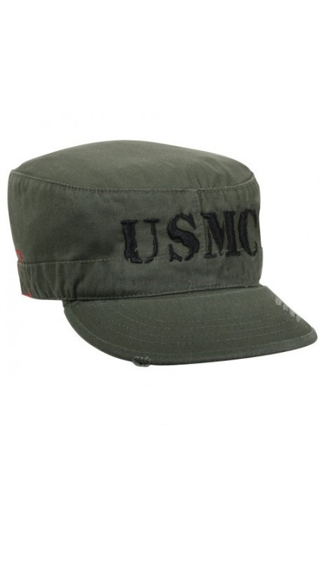 Casquette vintage Rothco vert olive licence USMC coupe BDU
