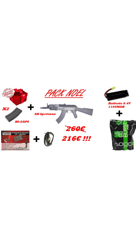 Pack noel Replique Airsoft AK-47 Spetsnaz