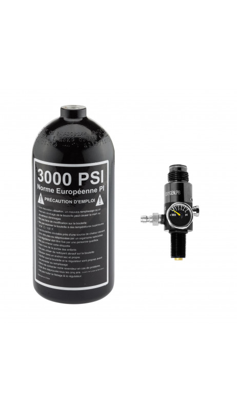 Pack bouteille alu 80cl + preset 3000 PSI