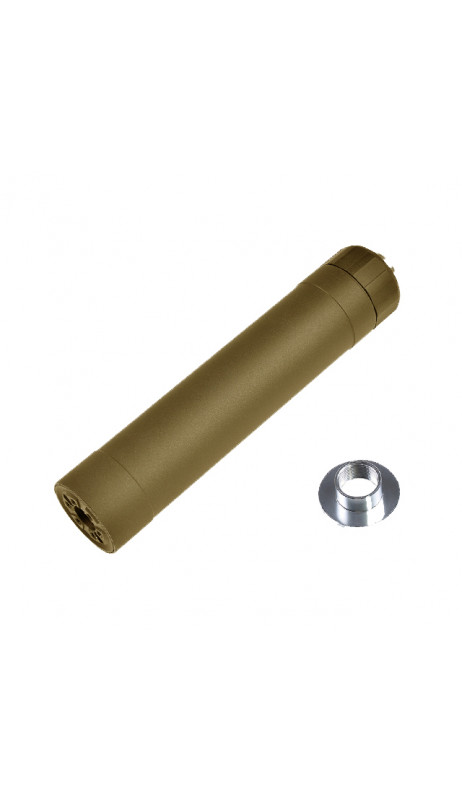 Silencieux Crusader TR45S Suppressor - Tan - 14 et 16mm - VFC
