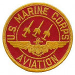 PATCH / ECUSSON - AVIATION U.S marines corps - rouge/or