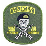PATCH / ECUSSON - ARMY MESS W/BEST Ranger
