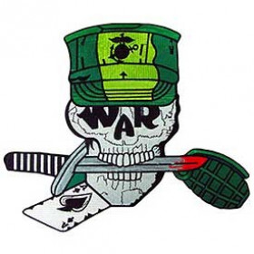 PATCH / ECUSSON - USMC SKULL WAR SCR