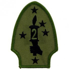 PATCH-USMC 02ND DIV SUBDUED