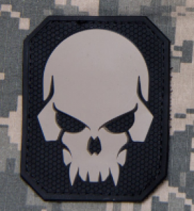 Patch PVC SKULL ACU