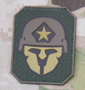 PATCH MODERNE PVC SPARTAN MULTICAM