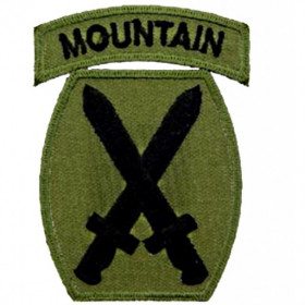 Patch US 10ème division- Mountain OD