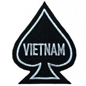 Patch US As de pique Vietnam Noir