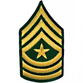Patch US Sergent Major OD
