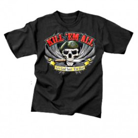 Tee shirt kill'em all beret kaki