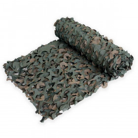 Filet de camouflage woodland Anti feu 2.4m X 3m