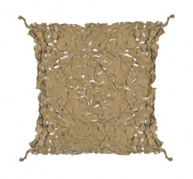 Filet de camouflage 80% de protection + câble acier 3 m x 3 m - Beige