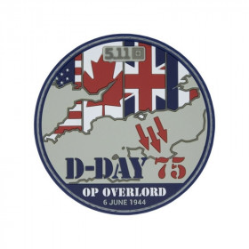 PATCH D-DAY 75 ANS FRANCE- 5.11 EDITION LIMITEE