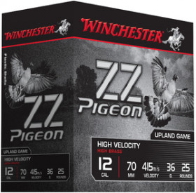 Cartouches de chasse special pigeon - C12/70 - 36g - BJ - Plombs n°6 - x25