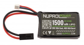 Batterie micro lipo power 7,4 v 1500 mah 20 c peq