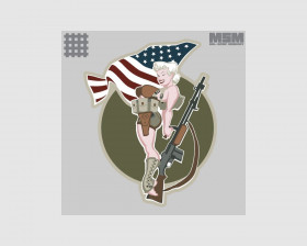 PATCH Pinup multicam USA
