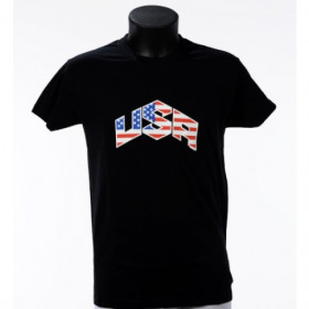 Tee shirt USA flag Noir