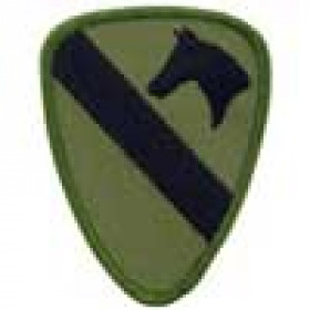 PATCH ECUSSON ARMY, 1ere division cavalerie US OD