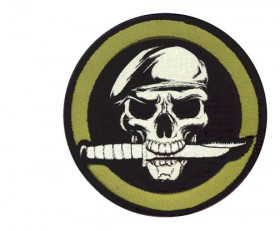 PATCH / ECUSSON velcro rond mercenaire diamètre 9 cm
