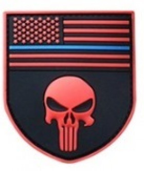 Patch punisher rouge USA Velcro