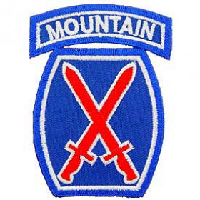 Patch US- 10ème division Mountain