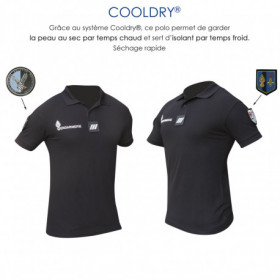 Polo gendarmerie Cooldry Anti-humidité