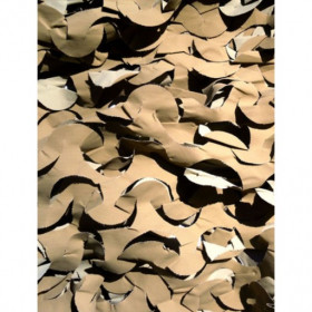 Filet de camouflage Sable Anti feu 2.4m X 6m