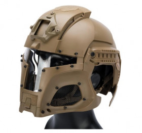 Casque Médieval Iron Warrior Tan