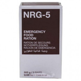 Ration d'urgence NRG-5, 500g 9 barres