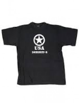 tee shirt usa army noir