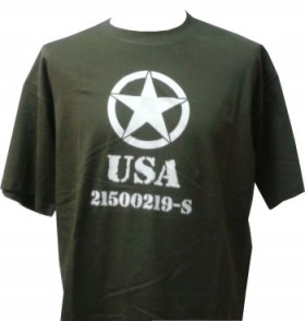 Tee shirt usa army kaki